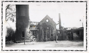 Church Fire 1954
