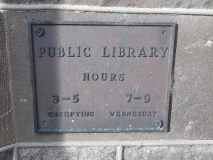 The Carleton Place Public Library operated out of the Town Hall from 1898 to 1970 when the present building was construc