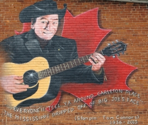 Stompin' Tom Mural Downtown Carleton Place